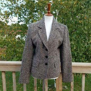 St John's Bay Brown Tweed Blazer